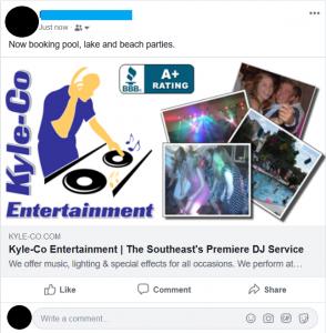 Kyle-Co Entertainment Ad